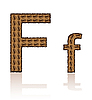 Vector clipart: letter F of coffee beans