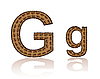 Vector clipart: letter G of coffee beans