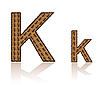 Vector clipart: letter K of coffee beans