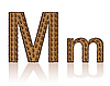 Vector clipart: letter M of coffee beans
