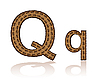 Vector clipart: letter Q of coffee beans