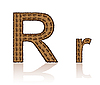 Vector clipart: letter R of coffee beans