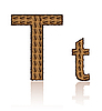 Vector clipart: letter T of coffee beans