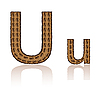 Vector clipart: letter U of coffee beans