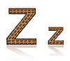Vector clipart: letter Z of coffee beans
