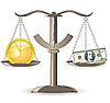 Vector clipart: scales choice time money