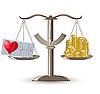 Vector clipart: scales choice health or money