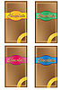 Vector clipart: chocolate in packing with coloured labels
