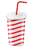 Vector clipart: paper cup with soda