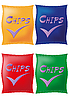 Vector clipart: potato chips in coloured packing