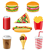 Vector clipart: set of fast food
