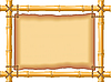 Vector clipart: frame of bamboo and old parchment