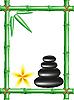 Vector clipart: spa zen stones and frame bamboo