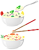 Vector clipart: italian and asian rice with vegetables