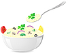 Vector clipart: italian rice with vegetables