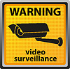 warning sign of surveillance camera