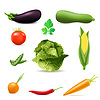 Vector clipart: set of icons vegetables