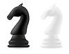 Vector clipart: knight chess piece black and white