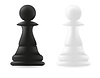 Vector clipart: pawn chess piece black and white