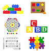 Vector clipart: icons educational toys for children