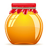 Vector clipart: honey in pot with red cover