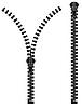 Vector clipart: zipper silhouette