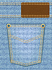 Vector clipart: jeans texture with pocket