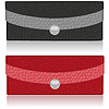 Vector clipart: black and red purse made of leather