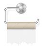 Vector clipart: piece toilet paper on holder