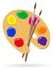페인트와 브러시 팔레트 | Stock Vector Graphics