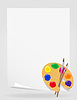Vector clipart: palette for paints and brush