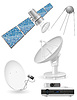 Vector clipart: set icons satellite broadcasting