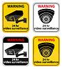 Vektor Cliparts: Videoüberwachung Warnzeichen