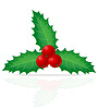Vector clipart: christmas holly berry