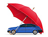 concept of protected and insured car umbrella