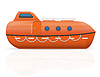 Vector clipart: nautical lifeboat