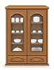 Vector clipart: cupboard furniture made of wood