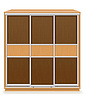 Vector clipart: modern wooden furniture wardrobe with sliding