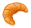 Vector clipart: crispy croissant with sesame seeds