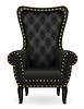 Vector clipart: black armchair furniture