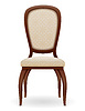Vector clipart: wooden chair furniture with padded backrest and