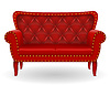 Vector clipart: red sofa furniture