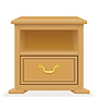 Vector clipart: nightstand furniture