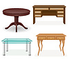 set icons furniture table