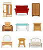 Vector clipart: set icons furniture
