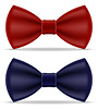 Red and blue bow tie for men suit | Stock Vector Graphics