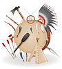 Vector clipart: american indians concept icons