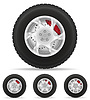 set icons car wheel tire of disk