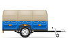 Vector clipart: car trailer for transportation of goods
