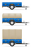 Vector clipart: set icons car trailer for transportation of goods